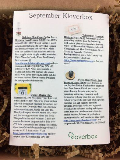 Kloverbox Review + Coupon Code - September 2018