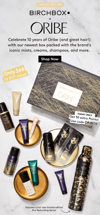 Birchbox Limited Edition: The Oribe x Birchbox Limited Edition Box  – On Sale Now + Coupon Codes!
