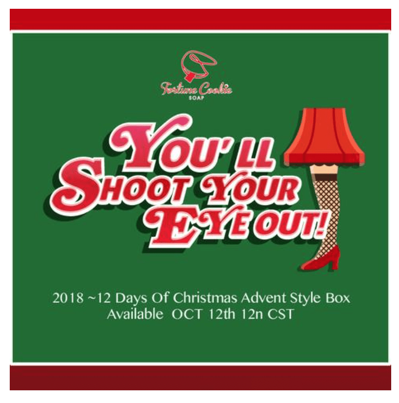 Fortune Cookie Soap 12 Days of Christmas Advent Style Box – On Sale Now
