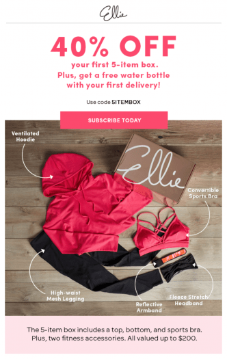 Ellie Coupon Code – Save 40% Off Your First Month + Free Water Bottle