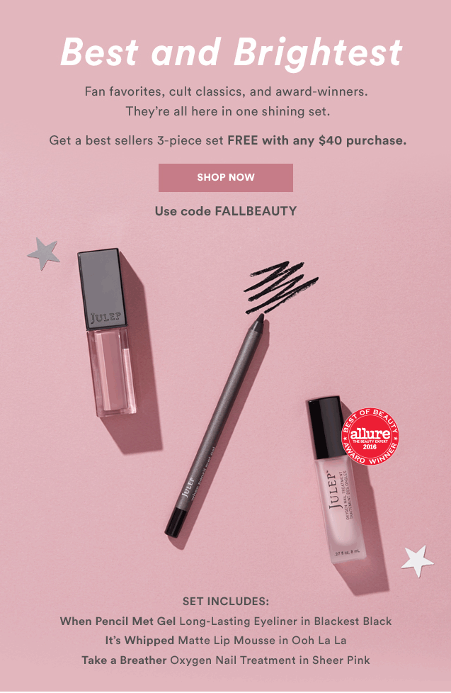 Julep Free Gift with Shop Purchases of $40+