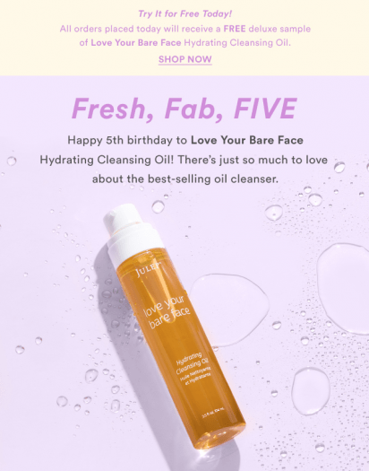 Julep Free Gift with Shop Purchases of $25+
