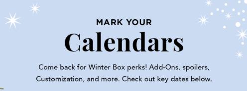 FabFitFunWinter 2018 Spoiler Schedule