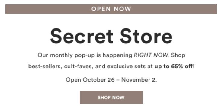 Julep Secret Store Now Open – November 2018