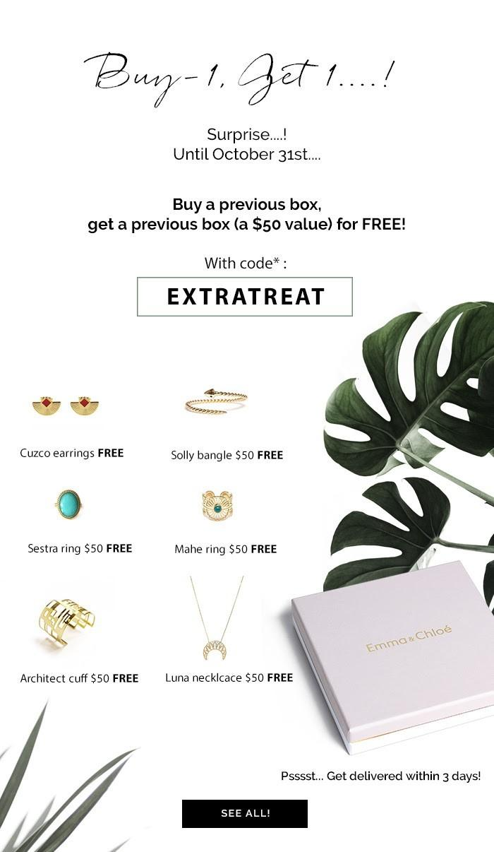 Emma & Chloe Coupon Code – Free Past Box with Purchase!