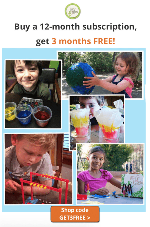 Green Kid Crafts – Three Free Months with an Annual Subscription