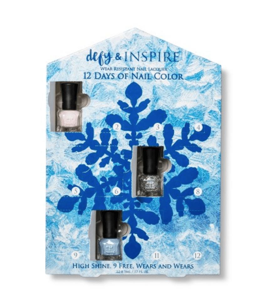 Defy & Inspire 12 Days of Nail Color Nail Polish Set / Advent Calendar – On Sale Now