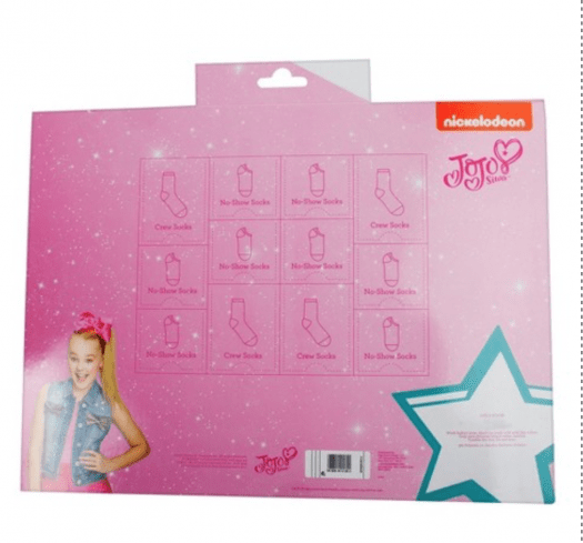 Girls' JoJo Siwa 12 Days Of Socks Advent Box