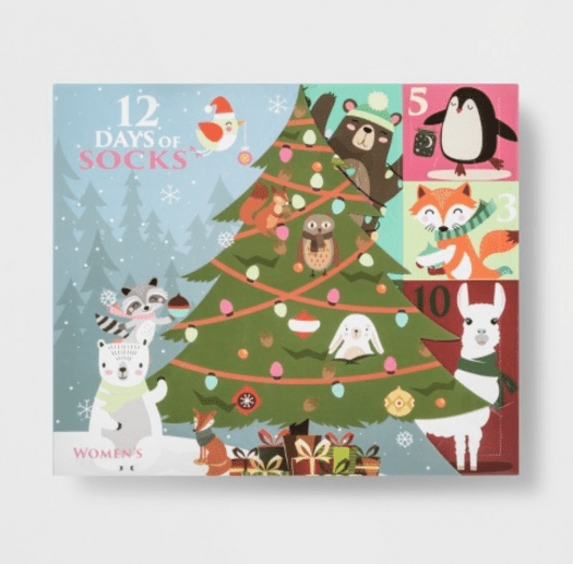 Women's Woodland Critters 12 Days of Socks Advent Calendar – On Sale Now