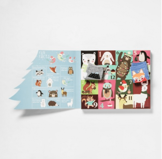Women's Woodland Critters 12 Days of Socks Advent Calendar - On Sale Now