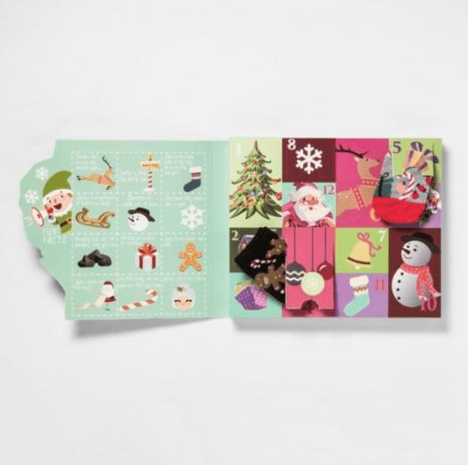Women's Santa's Sleigh 12 Days of Socks Advent Calendar - On Sale Now