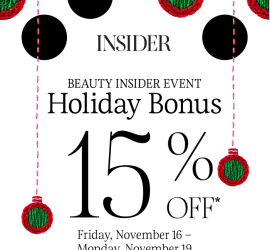 Sephora Beauty Insider Event - 15% Off Everything (20% Off for VIB & Rouge Members)