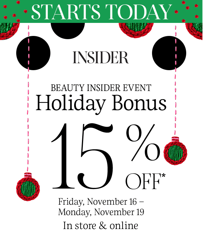 LAST DAY! Sephora Beauty Insider Event – 15% Off Everything (20% Off for VIB & Rouge Members)