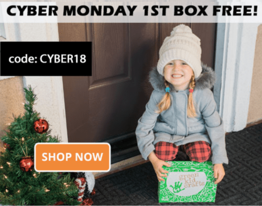 Green Kid Crafts Cyber Monday Sale – First Month Free!