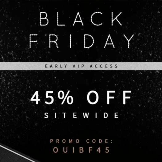 Oui Please Black Friday Coupon Code – 45% Off Sitewide!