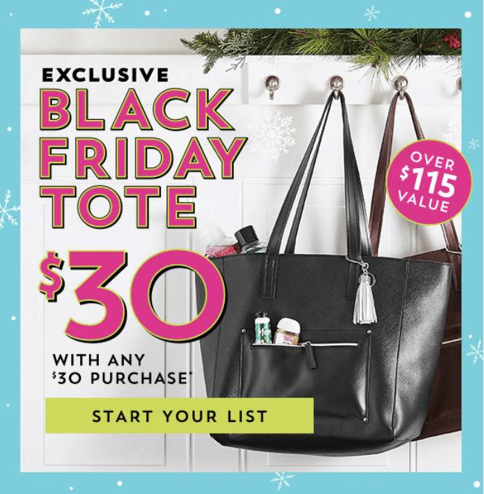 Bath & Body Works Black Friday 2018 Tote – On Sale Now!