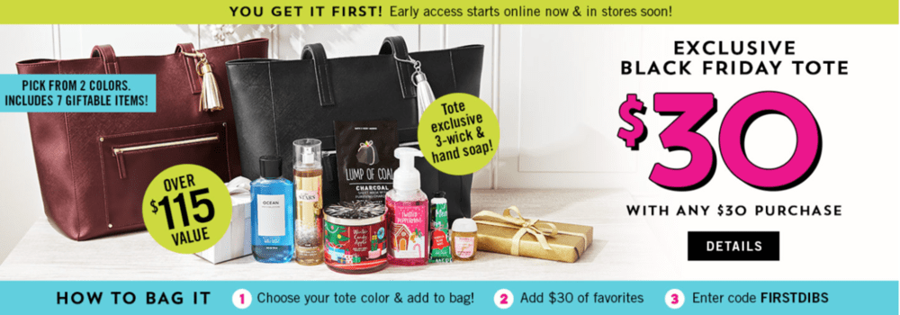 Bath Amp Body Works Black Friday 2018 Tote On Sale Now