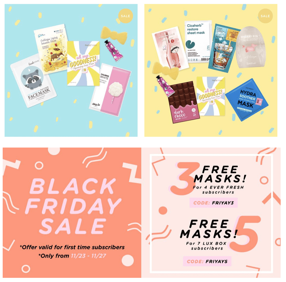 FaceTory Black Friday Deals- Up to 5 FREE Masks