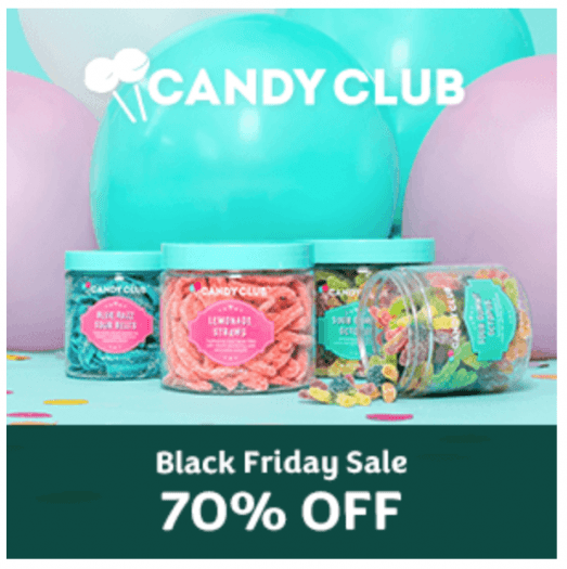 Candy Club Black Friday Sale – Save 70% Off Your First Box!