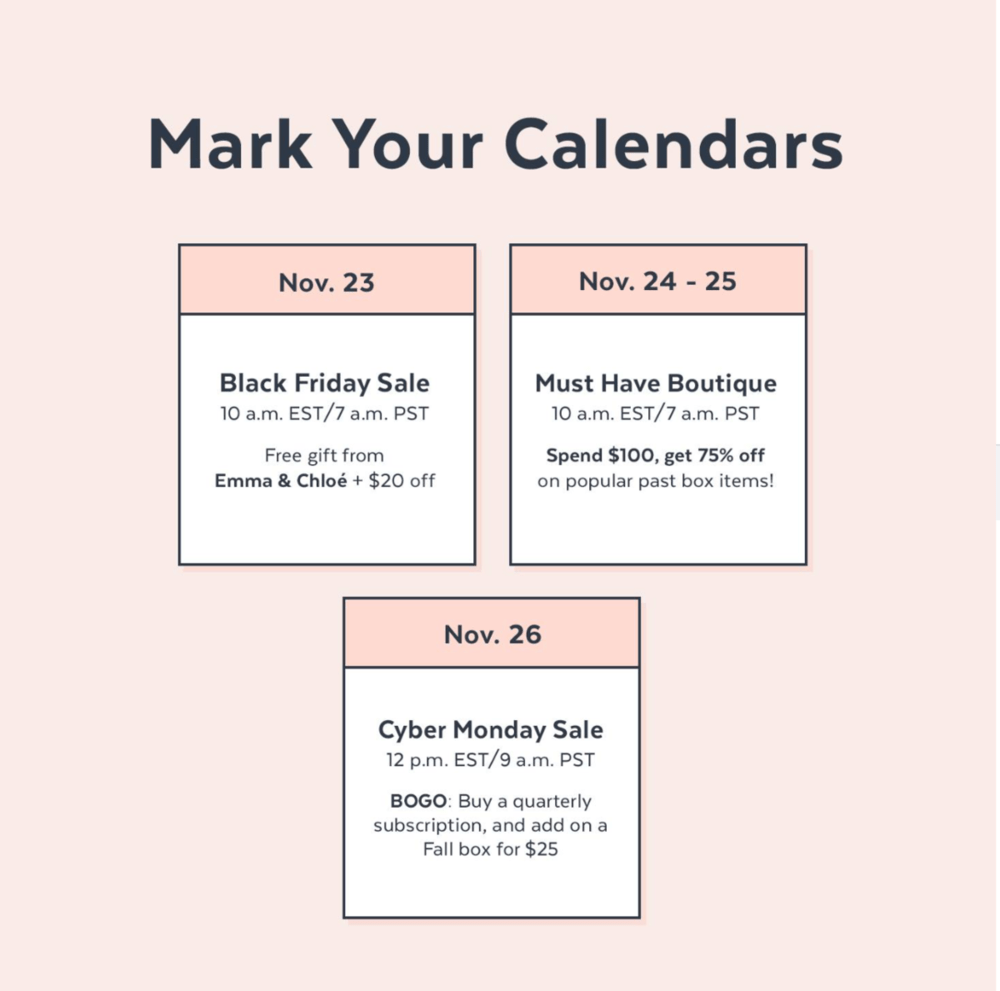 POPSUGAR Must Have Box Black Friday / Cyber Monday Deals!