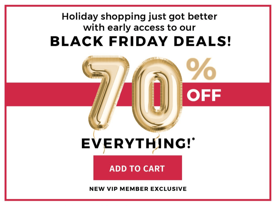 Fabletics Black Friday Sale – Save 70% Off EVERYTHING!