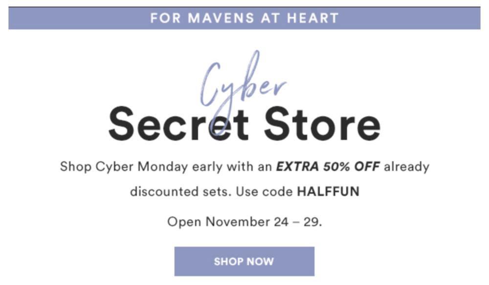 Julep Cyber Secret Store Now Open + 50% Off!