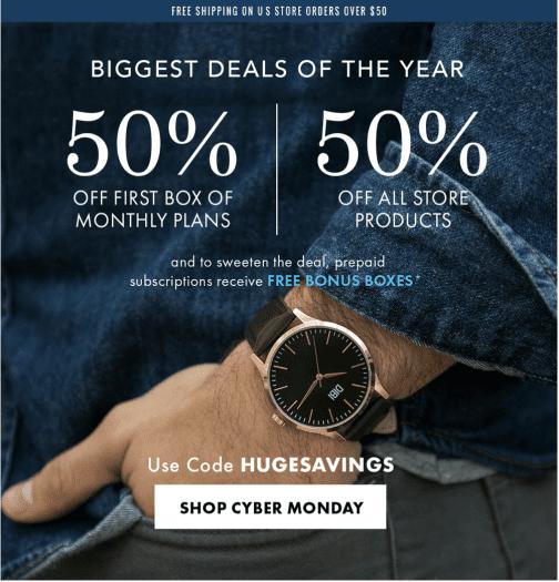 EXTENDED: SprezzaBox Cyber Monday Sale – Save 50%!