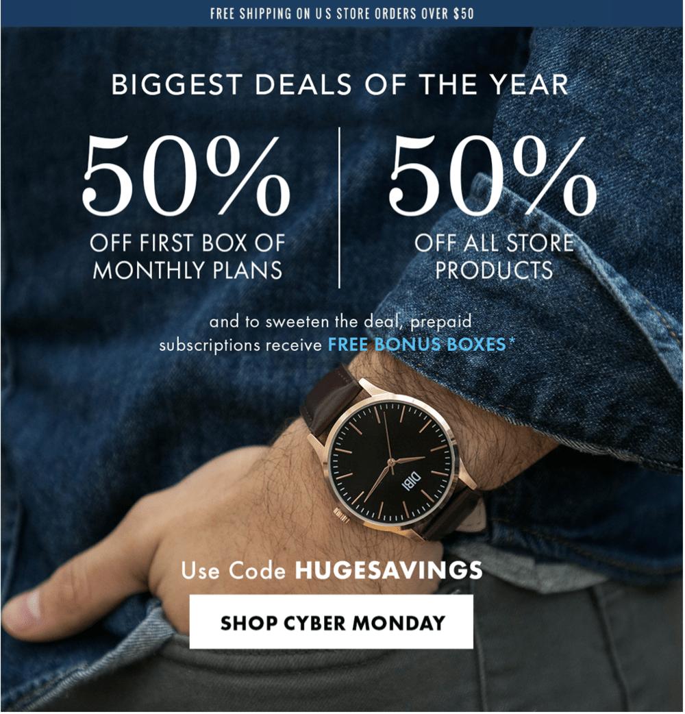 LAST DAY!: SprezzaBox Cyber Monday Sale – Save 50%!