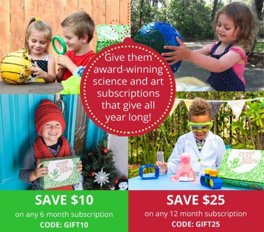 Last Call!  Green Kid Crafts Coupon Code – Save Up to $25 Off Gift Subscriptions