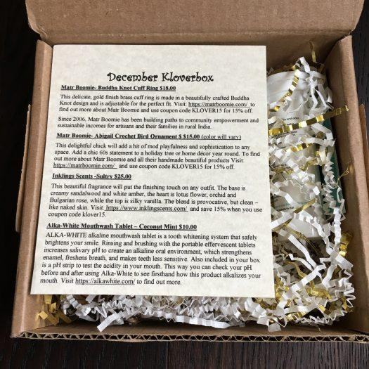Kloverbox Review + Coupon Code - December 2018