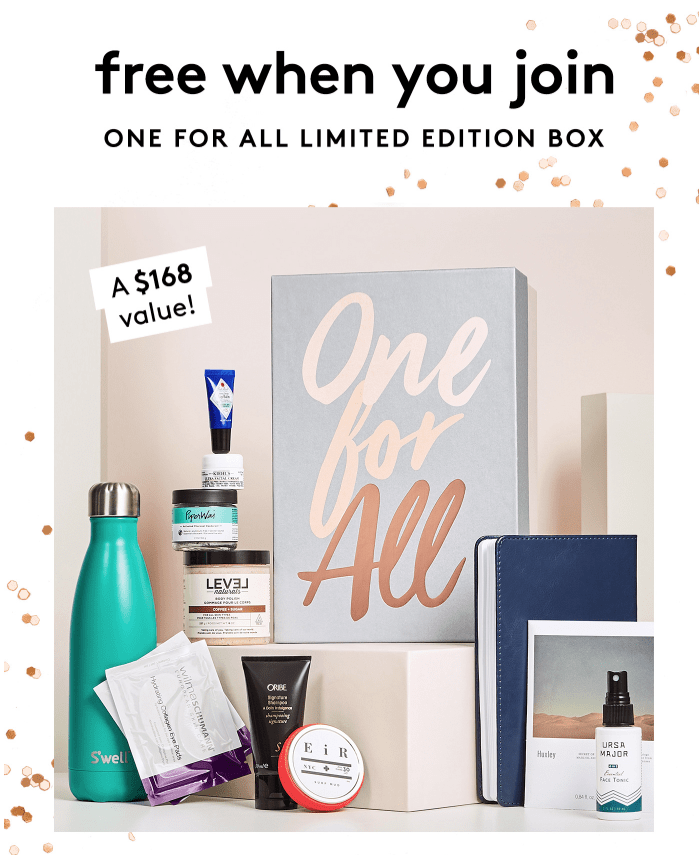 Birchbox – Free Limited Edition One For All Box with 6-Month Subscription!