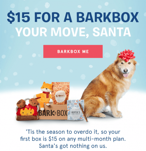 Get Your First BarkBox for $15!