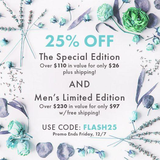 Bombay & Cedar 25% Special Edition & Mens Limited Edition Boxes