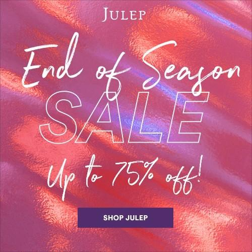 Julep End of Season Sale – Save Up to 75% Off + Free Gift With Purchase