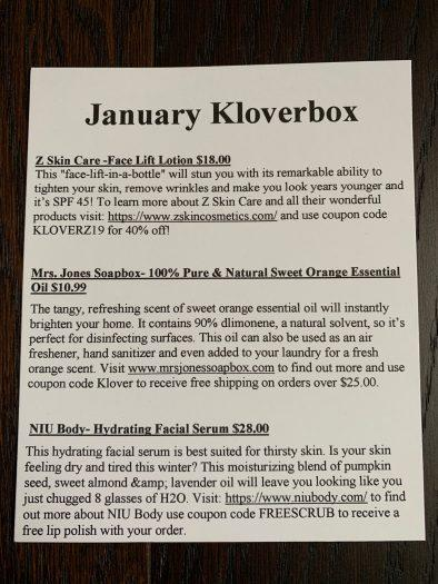 Kloverbox Review + Coupon Code - January 2019