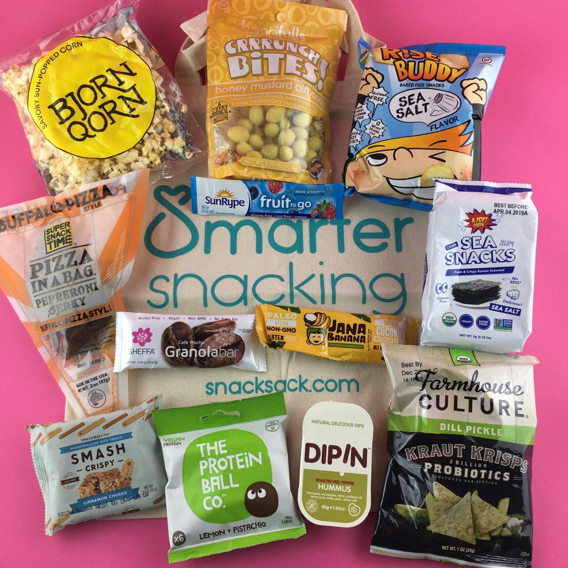SnackSack Subscription Box Review – September 2018
