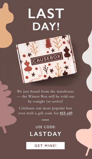 LAST DAY! CAUSEBOX Flash Sale – Save $15 Off Your First Box