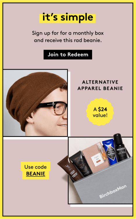 Birchbox Man Coupon: FREE Alternative Apparel Beanie with New Subscription!