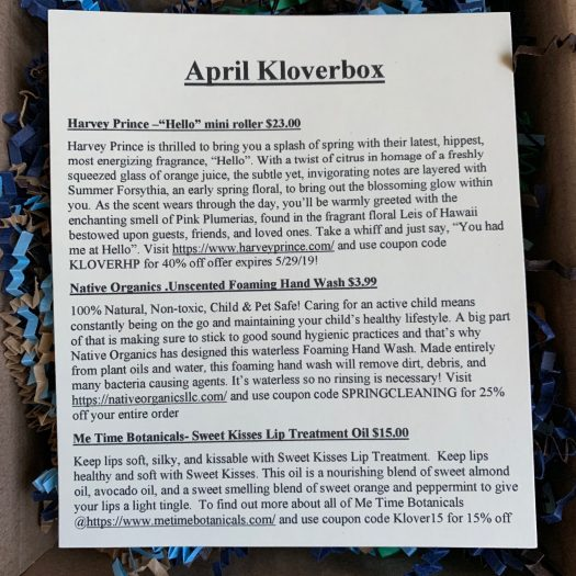 Kloverbox Review + Coupon Code - April 2019