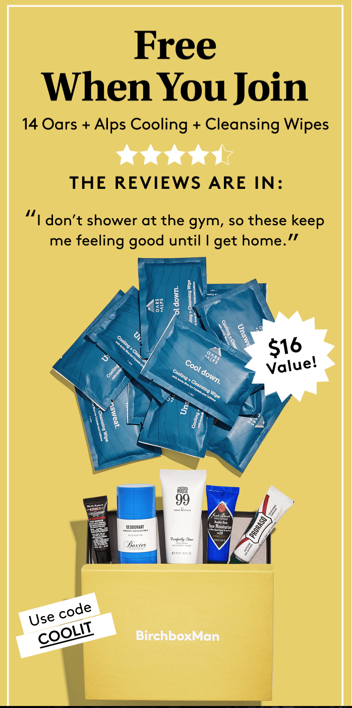 Birchbox Man Coupon: FREE Cooling Wipes With New Subscription!