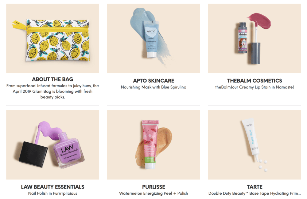 ipsy April 2019 Glam Bag Reveals are Up! - Subscription Box