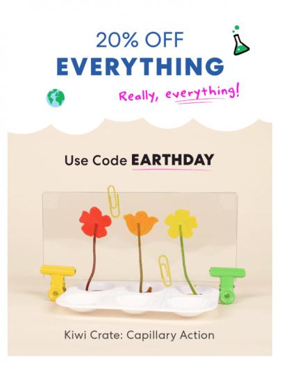KiwiCo Earth Day Sale – Save 20%
