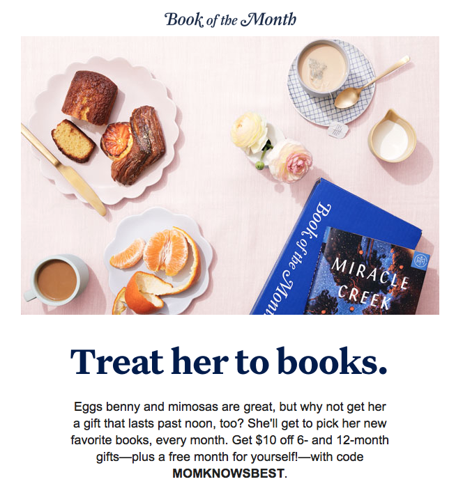 Book of the Month Sale – Save $10 Off a 6 or 12-Month Subscription