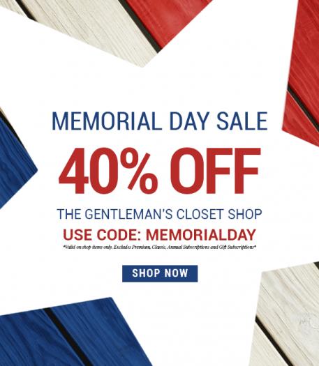 Gentleman's Box Memorial Day Sale – Save 40%!