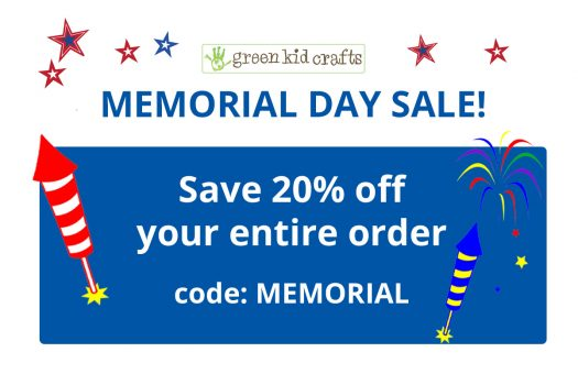 Green Kid Crafts – 20% Off Memorial Day Sale!