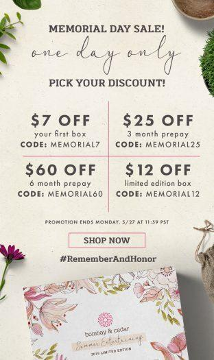 Bombay & Cedar Memorial Day Sale – Pick Your Deal!