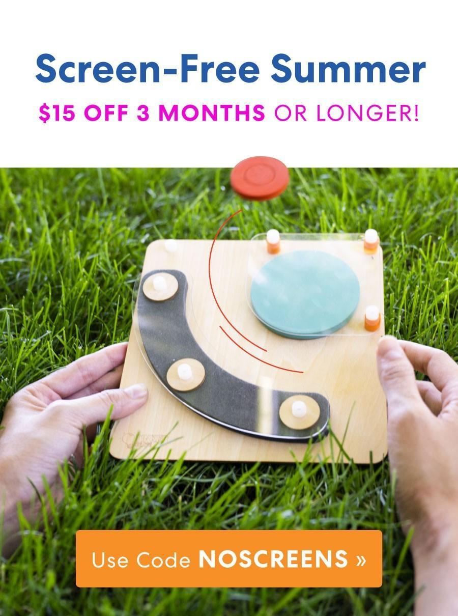 KiwiCo $15 Off 3+ Month Subscription!
