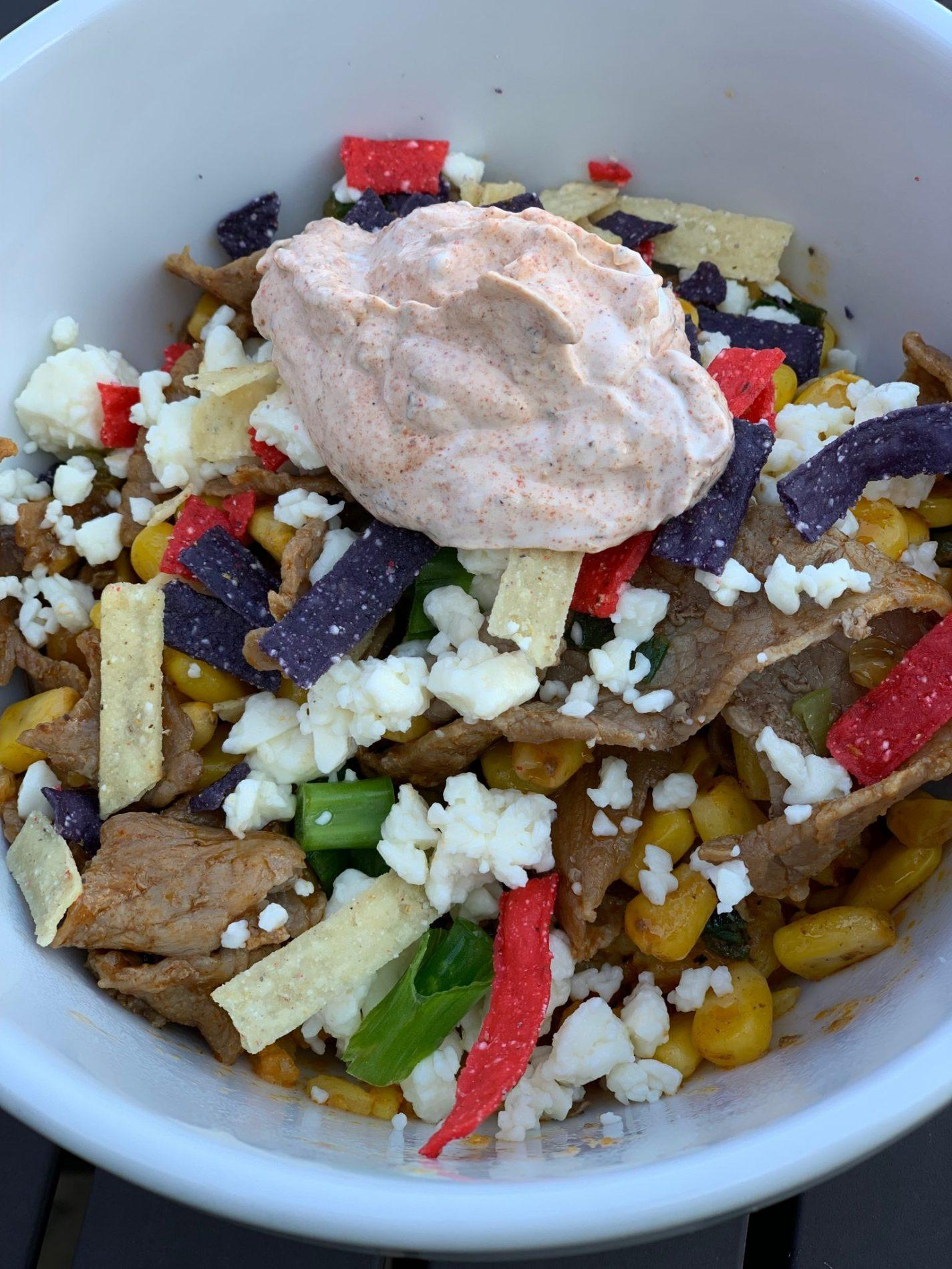 Kroger Home Chef Meal Kit Review – Steak Burrito Bowl with Corn and Crispy Tortilla Strips