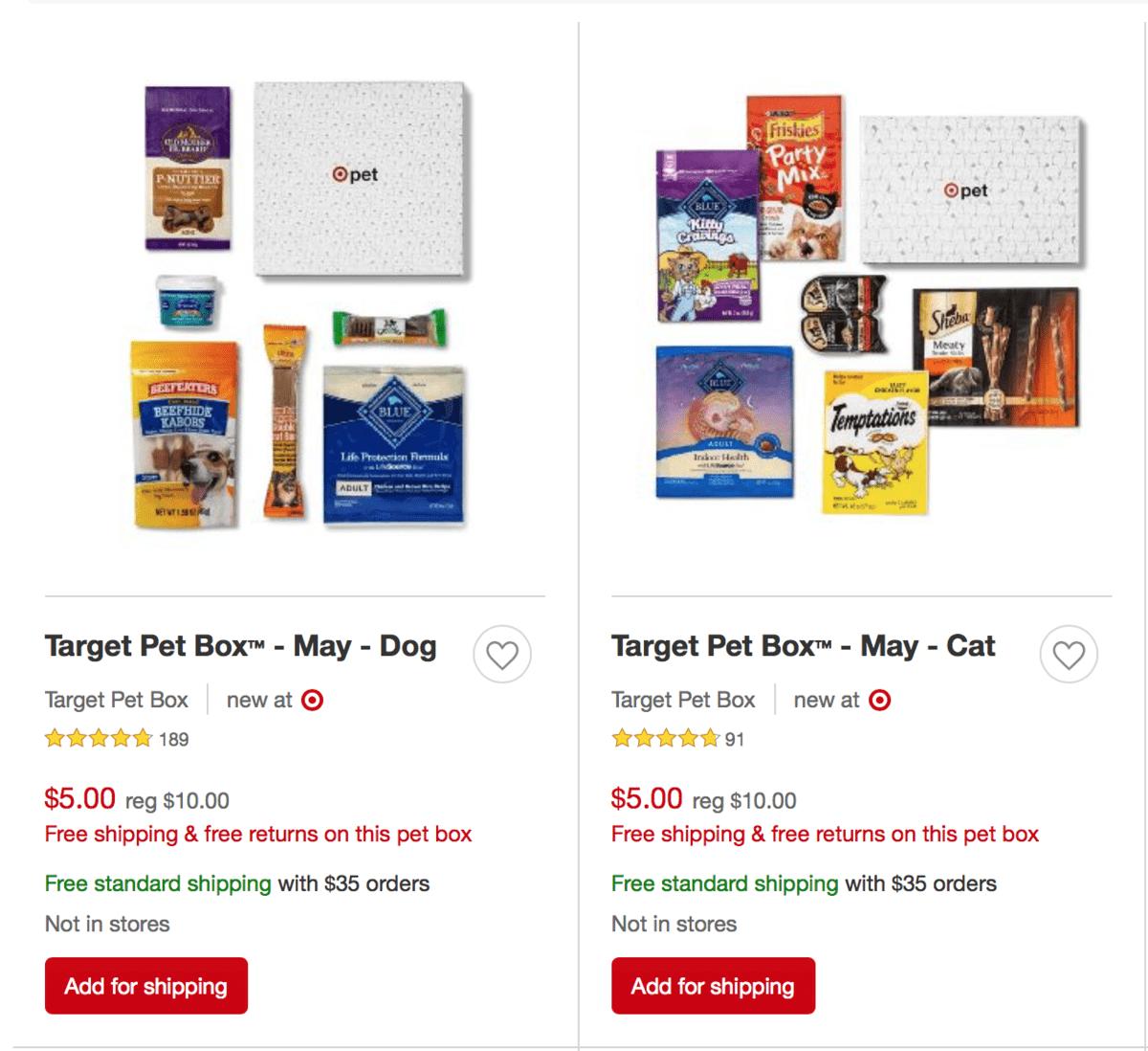 Target Pet Box™ – May 2019 Pet Boxes – Now 50% Off