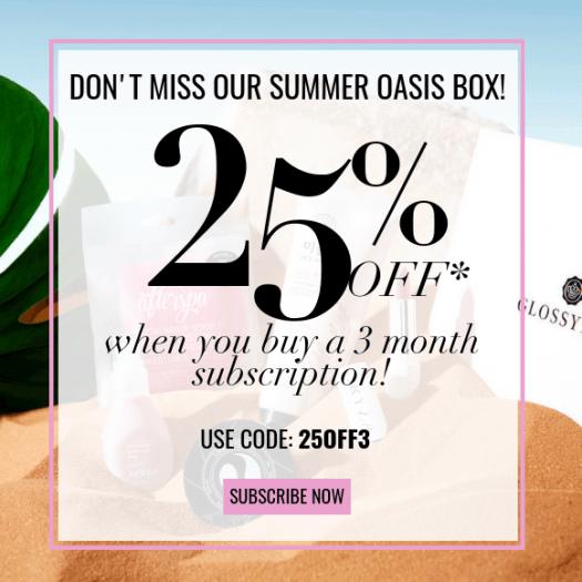 GLOSSYBOX Coupon Code – Save 25% Off!